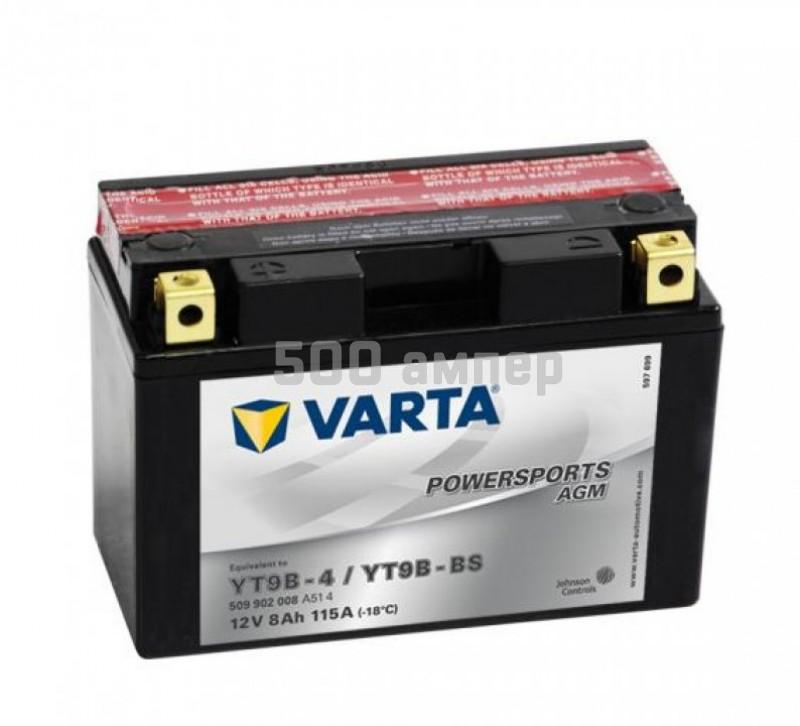 Аккумулятор VARTA Moto AGM 8Ah 115A YT9B-BS (509 902 008) 9323