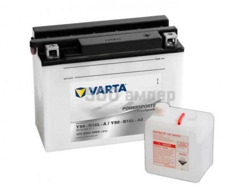 Аккумулятор VARTA Moto 20 Ah Y50-N18L-A (520 012 020) 9303