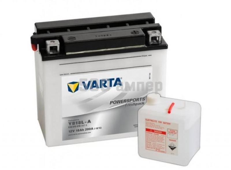 Аккумулятор VARTA Moto 18 Ah 200A YB18L-A (518 015 018) 9299
