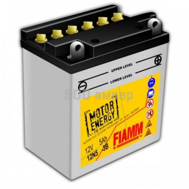 Аккумулятор FIAMM Moto 5 Ah (7902844) 12N5-3B 12977