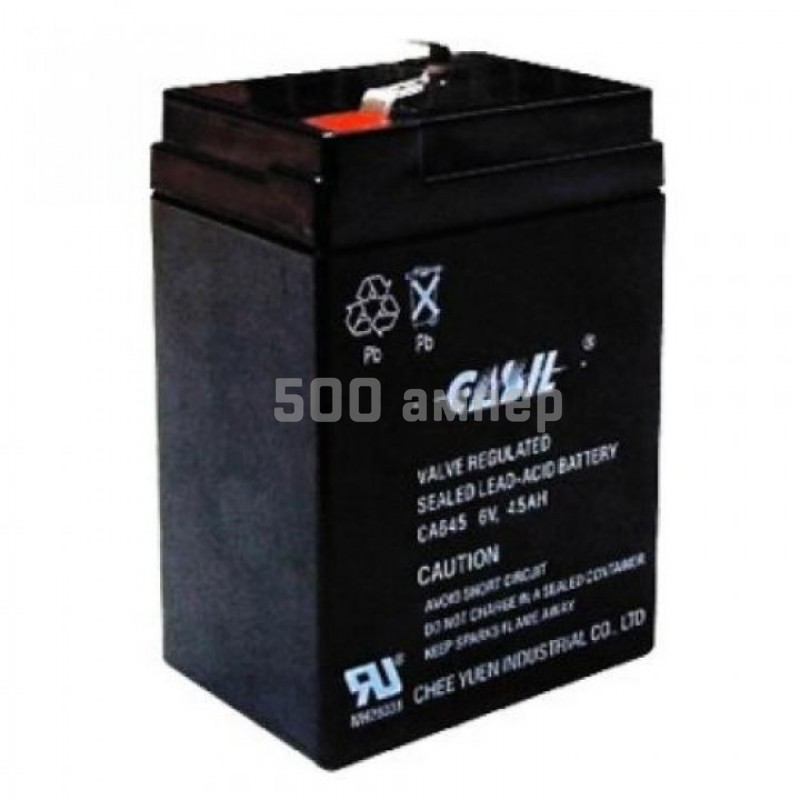 Аккумулятор Casil 6V 4,5Ah (CA645) 10073