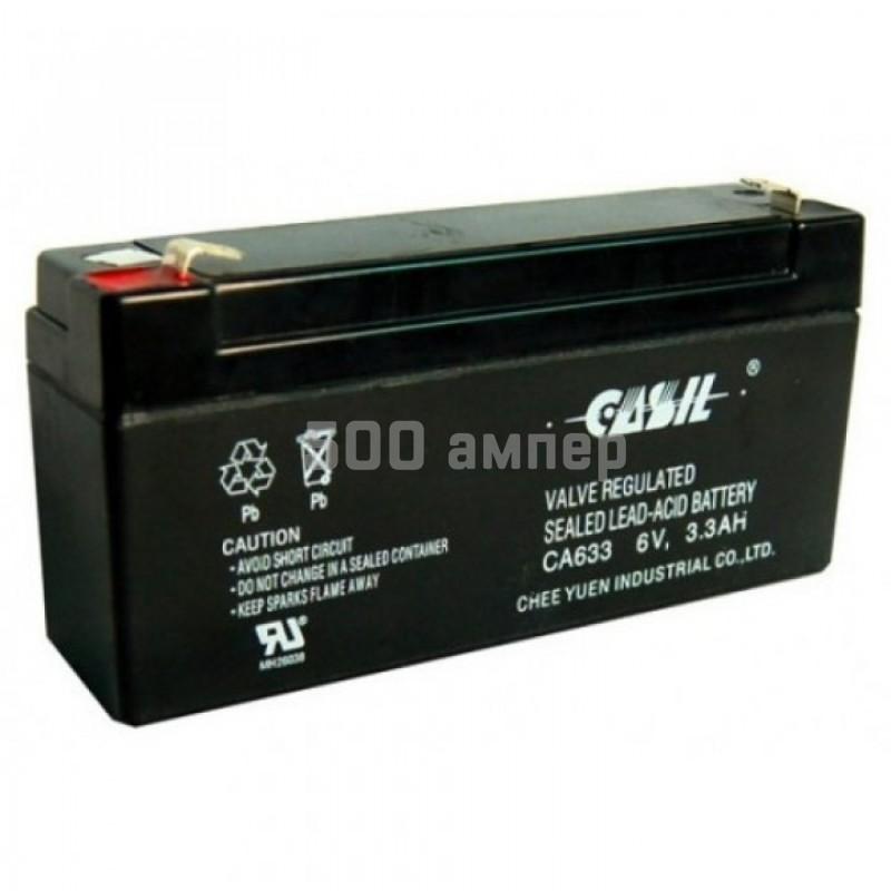 Аккумулятор Casil 6V 3,3Ah (CA633) 11703