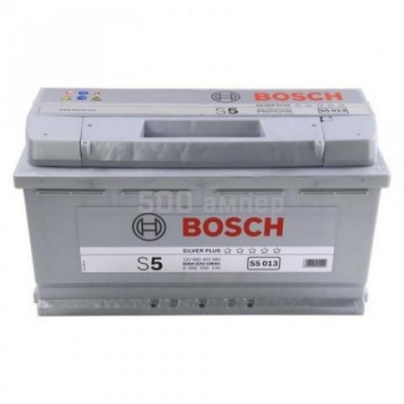 Аккумулятор Bosch S5 013 100 Ah 830A (-+) (600 402 083) 12477