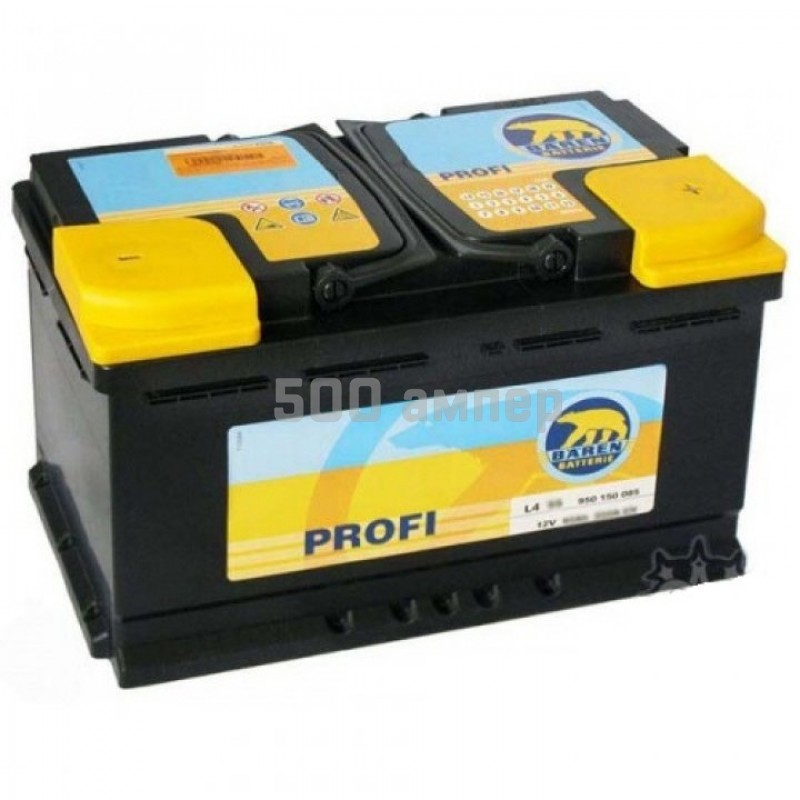 Аккумулятор Baren Profi 85Ah 760A (-+) 7902094_BAN