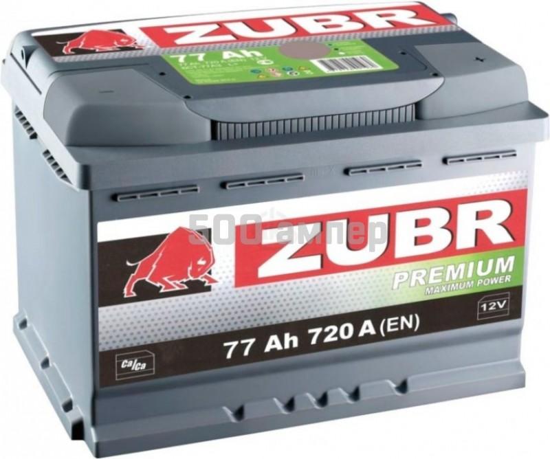 Аккумулятор ЗУБР 77Ah пр.плюс Премиум 25759