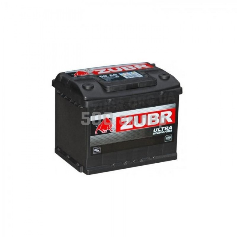 Аккумулятор Zubr Ultra 62Ah 600 Ah (-+) 25901