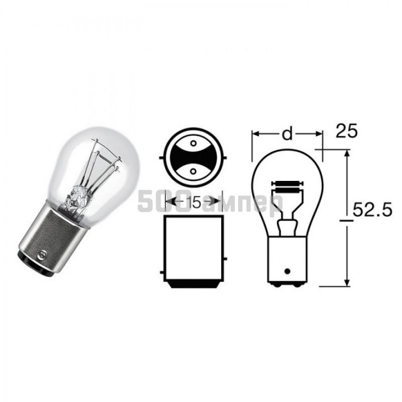Лампа PHILIPS 12V 21/5W (12499CP) 7713