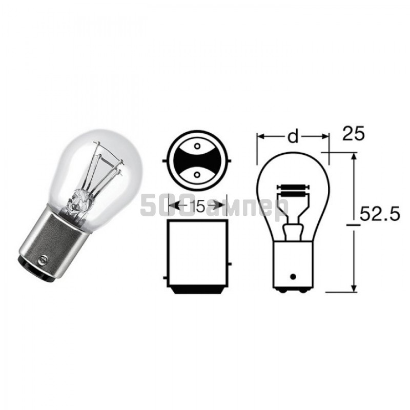 Лампа SCT 24V 21/5W (202358) 3335