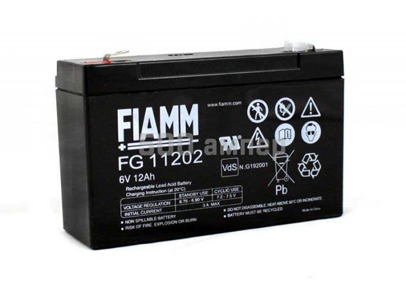 Аккумулятор FIAMM 6V 12Ah (FG11202) 14105