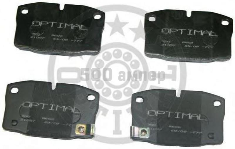 Комплект тормозных колодок, дисковый тормоз OPTIMAL (9602)