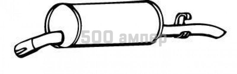Глушитель выхлопных газов конечный WALKER (17366)