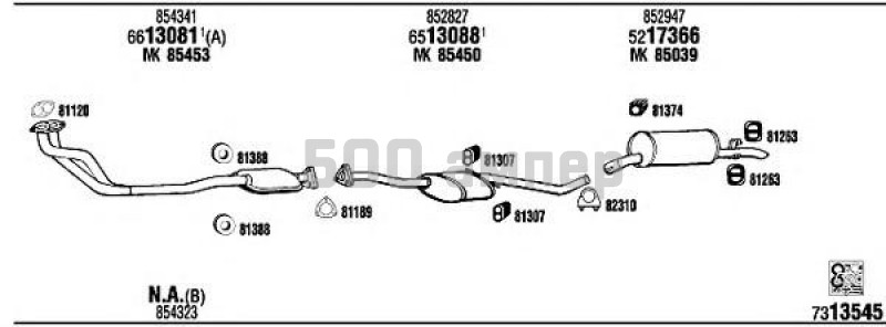Система выпуска ОГ WALKER (OP73102B)