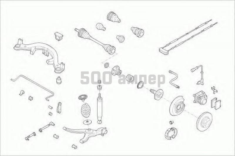 Рулевое управление LEMFÖRDER (OPEL-OMEGA-RL002)