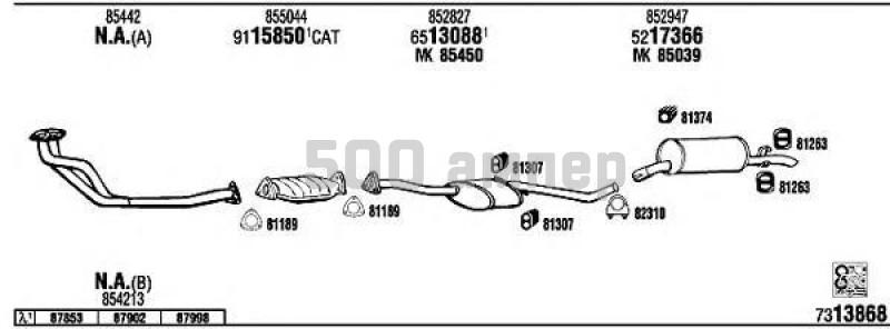 Система выпуска ОГ WALKER (OP73110)