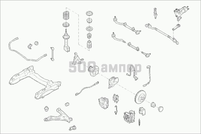 Рулевое управление SACHS (OPEL-OMEGA-FS001)