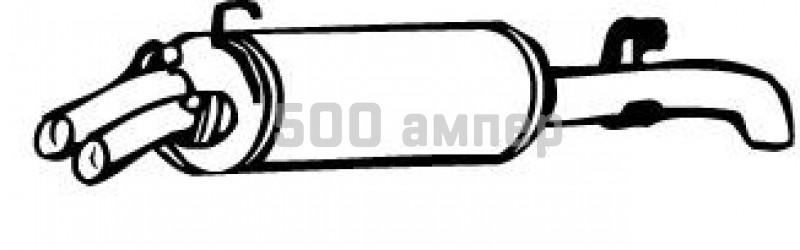 Глушитель выхлопных газов конечный WALKER (17321)