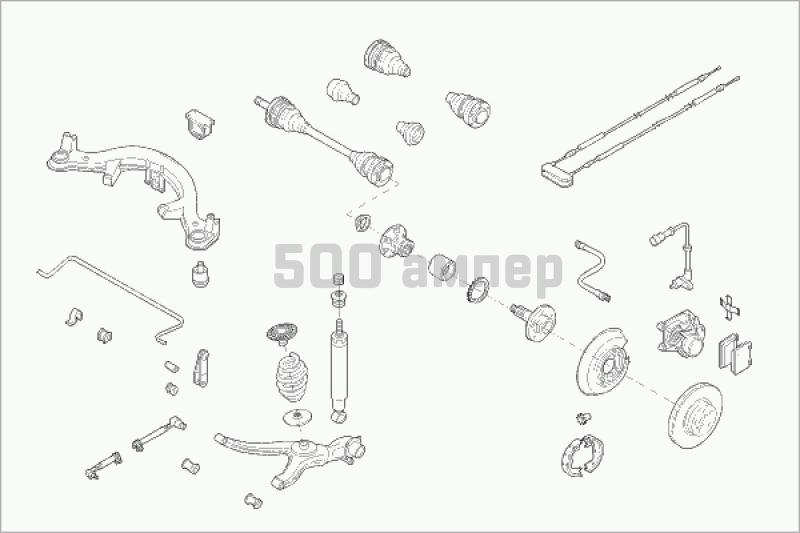 Подвеска колеса SACHS (OPEL-OMEGA-RS002)