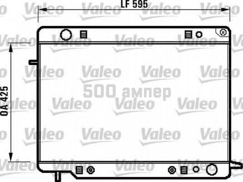 Радиатор, охлаждение двигателя VALEO (731420)