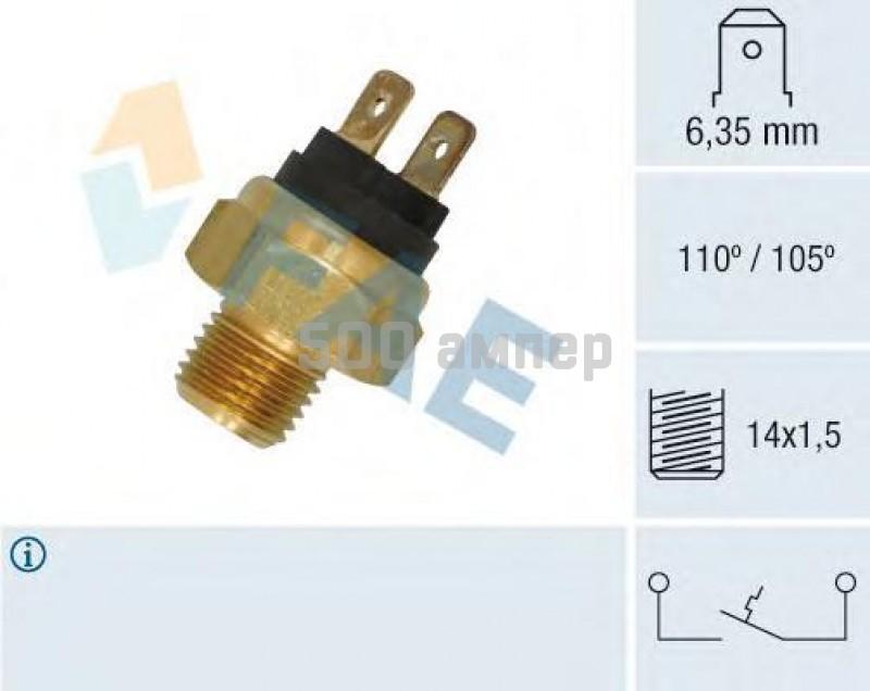 термовыключатель, сигнальная лампа охлаждающей жидкости FAE (35800)