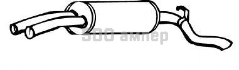 Глушитель выхлопных газов конечный WALKER (17345)