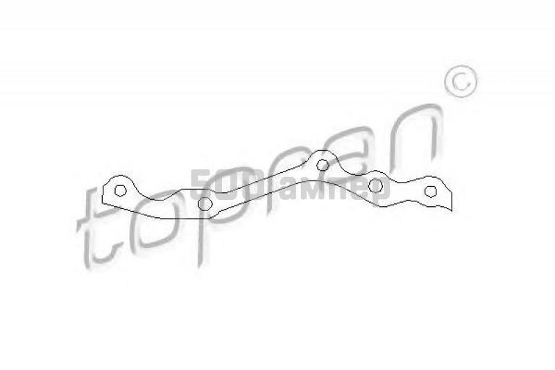Прокладка, картер рулевого механизма TOPRAN (201 228)