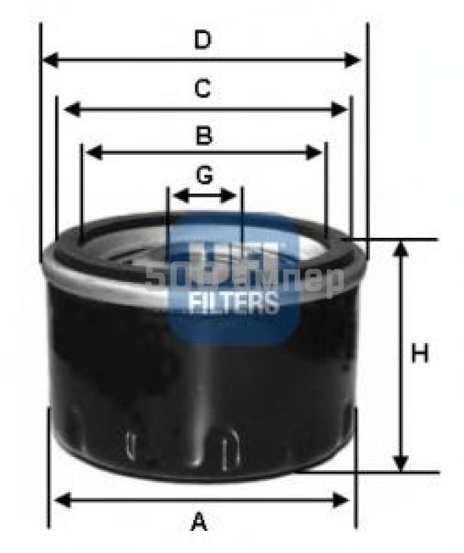 Масляный фильтр UFI (23.114.02)