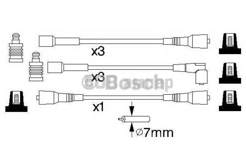 Комплект проводов зажигания BOSCH (0 986 356 814)