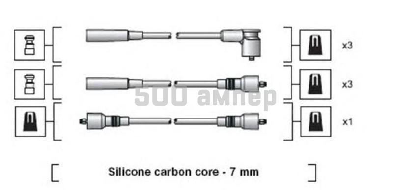 Комплект проводов зажигания MAGNETI MARELLI (941318111141)
