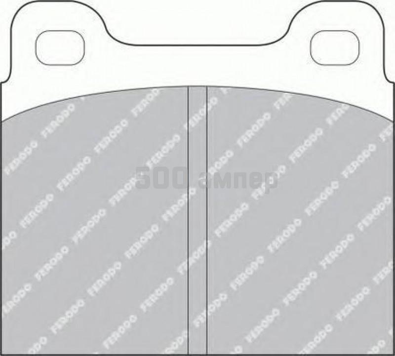 Комплект тормозных колодок, дисковый тормоз FERODO (FDB2H)