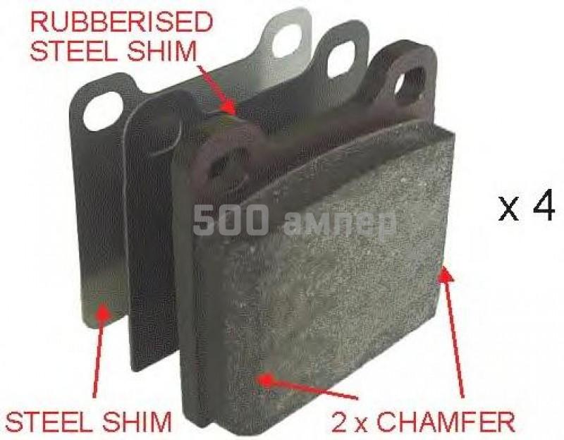 Комплект тормозных колодок, дисковый тормоз FERODO (FDB704)