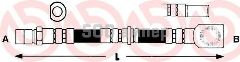 Тормозной шланг BREMBO (T 59 056)